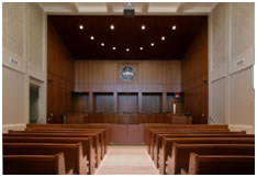 Justice facilities: courtroom